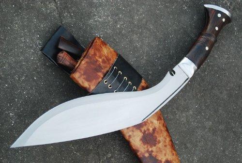 Genuine Gurkha Full Tang Hand Forged Blade Khukri Knife - 13'' Blade World War I Historic Kukri - Handmade By Egkh in Nepal Zombie Apocalypse Chopper