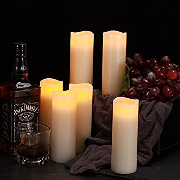 """Comenzar Flameless Candles, Battery Operated 6"""" Candles Set Of 12(d2.2 X H6 Pillar Real Wax Led Candles With Remote Timer By (Ivory) 2"""