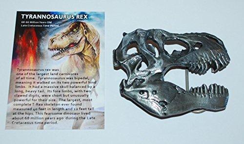 Dinosaur Skull Metal Belt Buckle T-Rex Tyrannosaurus For Fossil Lover!! #417 4o ()