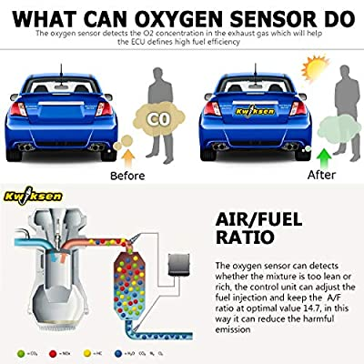 Kwiksen 2PCS Heated Oxygen O2 Sensor 234-4092 Upstream And Downstream Replacement for Honda Prelude Base 2.2L 1997 1998 1999 2000 2001: Automotive