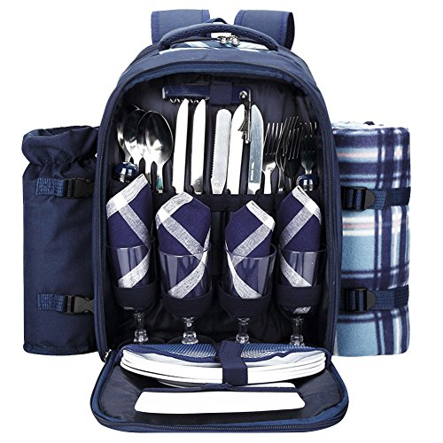 Picnic Backpack With Cooler Compartment made our list of Valentine's Day Gift Ideas For Your Camping Sweetheart