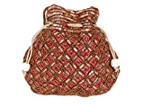 Indian sequence Potli Bag/ wedding purse/jewelery purse for girls & women (Base Color- Maroon)