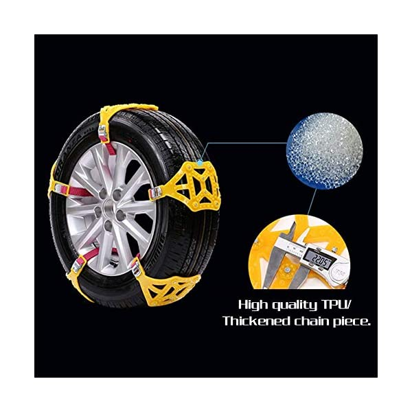 Chaînes à neige universelles Riloer, chaînes à neige portables 8 pièces, chaînes de pneus à neige de voiture de traction…