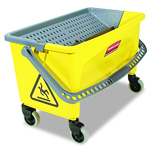 Rubbermaid Commercial HYGEN Q90088YW HYGEN Press Wring Bucket for Microfiber Flat Mops, Yellow