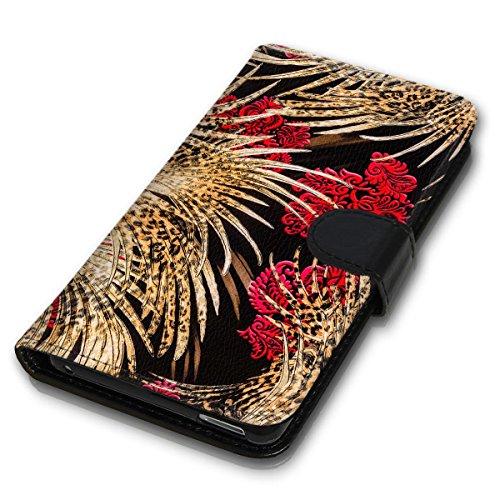 Wallet Book Style Flip Handy Tasche Case Schutz Hülle Schale Motiv Etui für Apple iPhone 6 Plus / 6S Plus - Design Flip MVD211