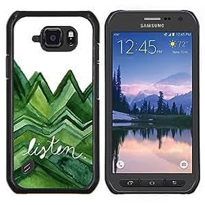 Stuss Case / Funda Carcasa protectora - Escuchar árboles verdes de la acuarela Lagarto Blanco - Samsung Galaxy S6 Active G890A