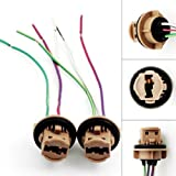 iJDMTOY 7440 7443 Wiring Harness Sockets For LED Bulbs, Turn Signal Lights, Brake Lights