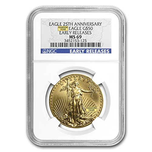 1986 – Present 1 oz Gold American Eagle MS-69 NGC (Random Year) 1 OZ MS-69 NGC