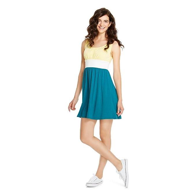 70886afdfa58 Mossimo Supply Co Women's A Line Tank Dress Yellow/Fresh White/Teal (XS