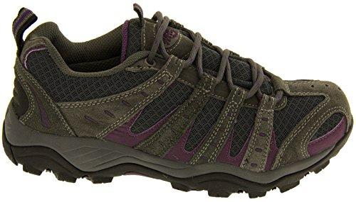 Northwest Territory Ladies Montana/Pino Totalmente Impermeable Senderismo/Senderismo Cordones Trainer Shoe gris
