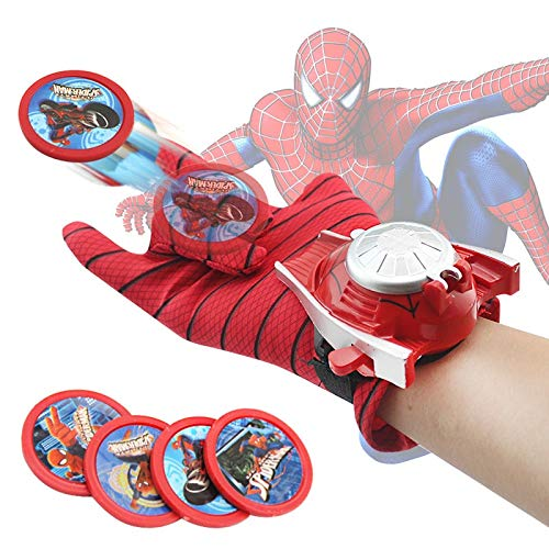 (Tini Action & Toy Figures - Cosplay Marvel Avengers Super Heroes Gloves Laucher Spiderman One Size Glove Gants Props for Kid 1)