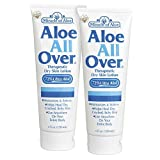 Best Lotion for Dry Skin Aloe All Over 4 oz - 2 Pack BEST Skin Lotion For Moisturizing Severe Dry Flaky Itchy Skin Legs Arms Hands Glowing Baby-Soft Skin