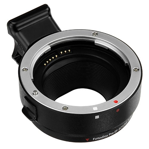 Fotodiox Pro Lens Mount Auto Adapter - Canon EOS (EF/EF-S) D/SLR Lens to Canon EOS M (EF-M Mount) Mirrorless Camera Body - with Full Automated Functions by Fotodiox