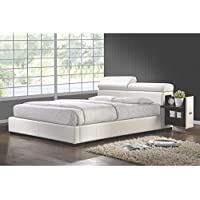 Coaster Home Furnishings 300379KE Contemporary Bed, King, White/White