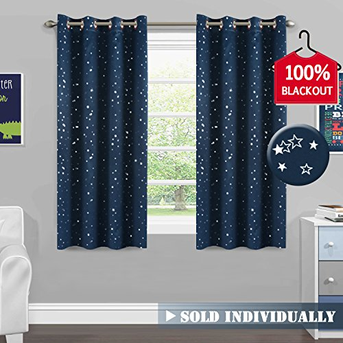 Classic Iron Garden - H.VERSAILTEX Full Blackout Thermal Insulated Curtain Panels Star Wars Curtains for Boys Room Grommet Star Curtains for Kids Room, 52 x 63 - Inch - 1 Panel