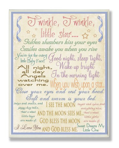 The Kids Room by Stupell Twinkle Twinkle, Good Night Sleep Tight Rectangle Wall Plaque