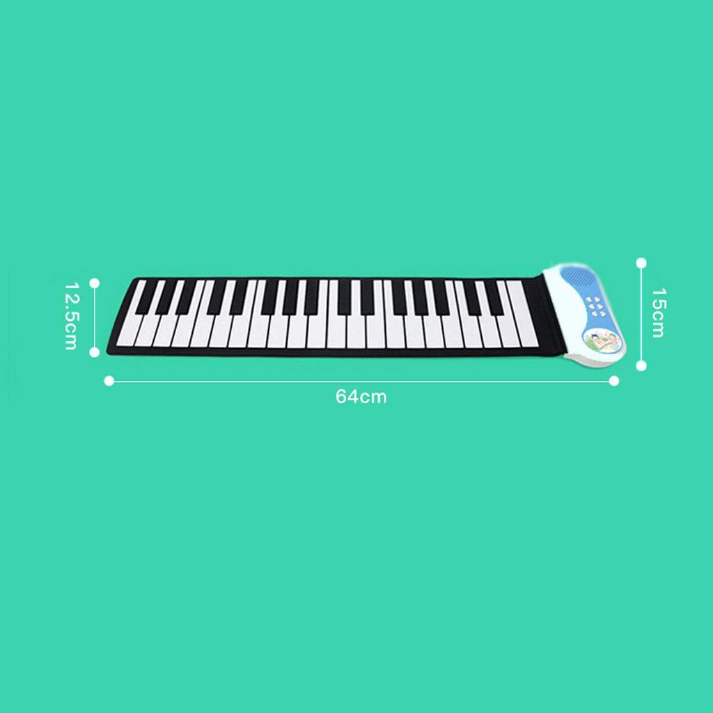 Puzzle Klavier Hand Roll Klaviertastatur Klaviertastatur Klaviertastatur 37 Tasten Anfänger Kinder Praxis Tragbaren Blau 76c5f0