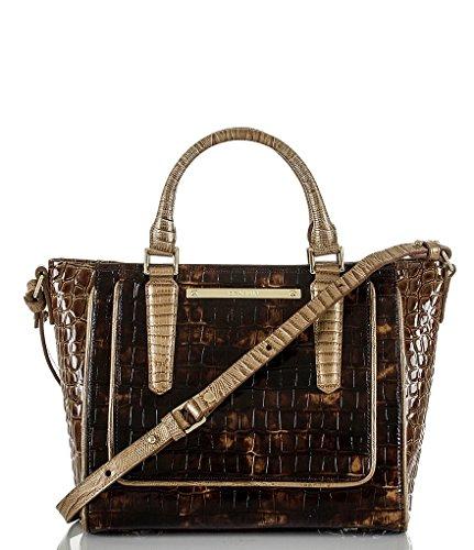 - Brahmin Mini Arno Tortoise Rouncewell Genuine Leather
