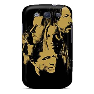 Rugged Skin Case Cover For Galaxy S3- Eco-friendly Packaging(foo Fighters Band)