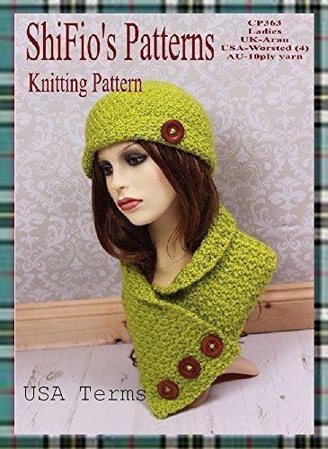 Amazon Crochet Pattern Cp363 Ladies Hat Neck Warmer Usa
