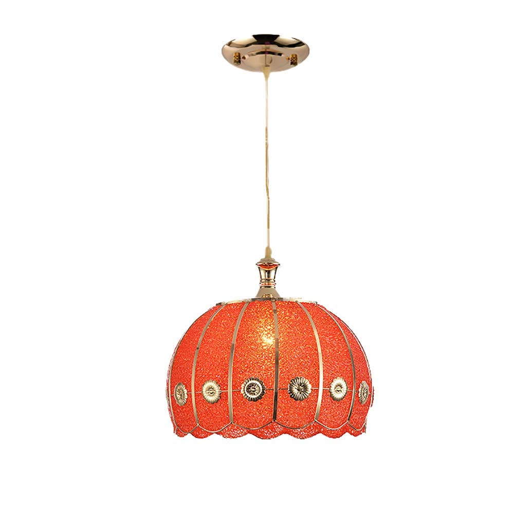HAIXIANG Nordic Wrought Iron Plastic Single Head Ceiling Lamp Brushed Red Dining Chandelier Restaurant Bar Net Coffee Pendant Light