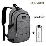 OMOUBOI Laptop Backpack Anti Theft Travel Backpack with Portable Cup School Computer Bag with USB charging Port