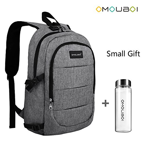 Laptop Backpack OMOUBOI Anti Theft Travel Backpack with Portable Cup School Computer Bag with USB charging Port
