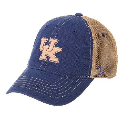 ZHATS NCAA Kentucky Wildcats Men's Institution Relaxed Cap, Adjustable, Royal