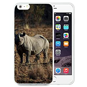 Fashionable Designed Cover Case For iPhone 6 Plus 5.5 Inch With Black Rhinoceros Animal Mobile Wallpaper (2) Phone Case