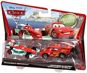 Cars 2 Francesco Bernoulli y Rayo Mcqueen Diecast vehículo Two-Pack: Cars 2 Francesco Bernoulli and Lightning McQueen Diecast Vehicle Two-Pack: Amazon.es: Juguetes y juegos