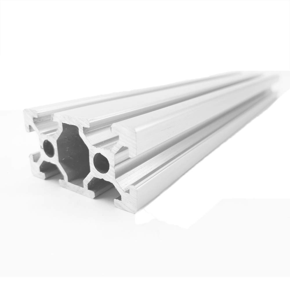 Gimax 4pcs/lot 2040 European Standard Industrial Aluminum Alloy Profile 100-500mm Length Linear Rail for DIY 3D Printer CNC - (Color: 450MM)