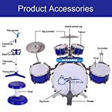 Jazz Drum Set With Microphone Stand And