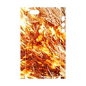 3D Zachcolo Fire & Flame IPhone 5,5S Case Fire 25, Fire & Flame, {White}