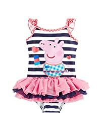 LEMONBABY Baby Girls Cute Peppa Pig One-Piece Bikini Swimsuit