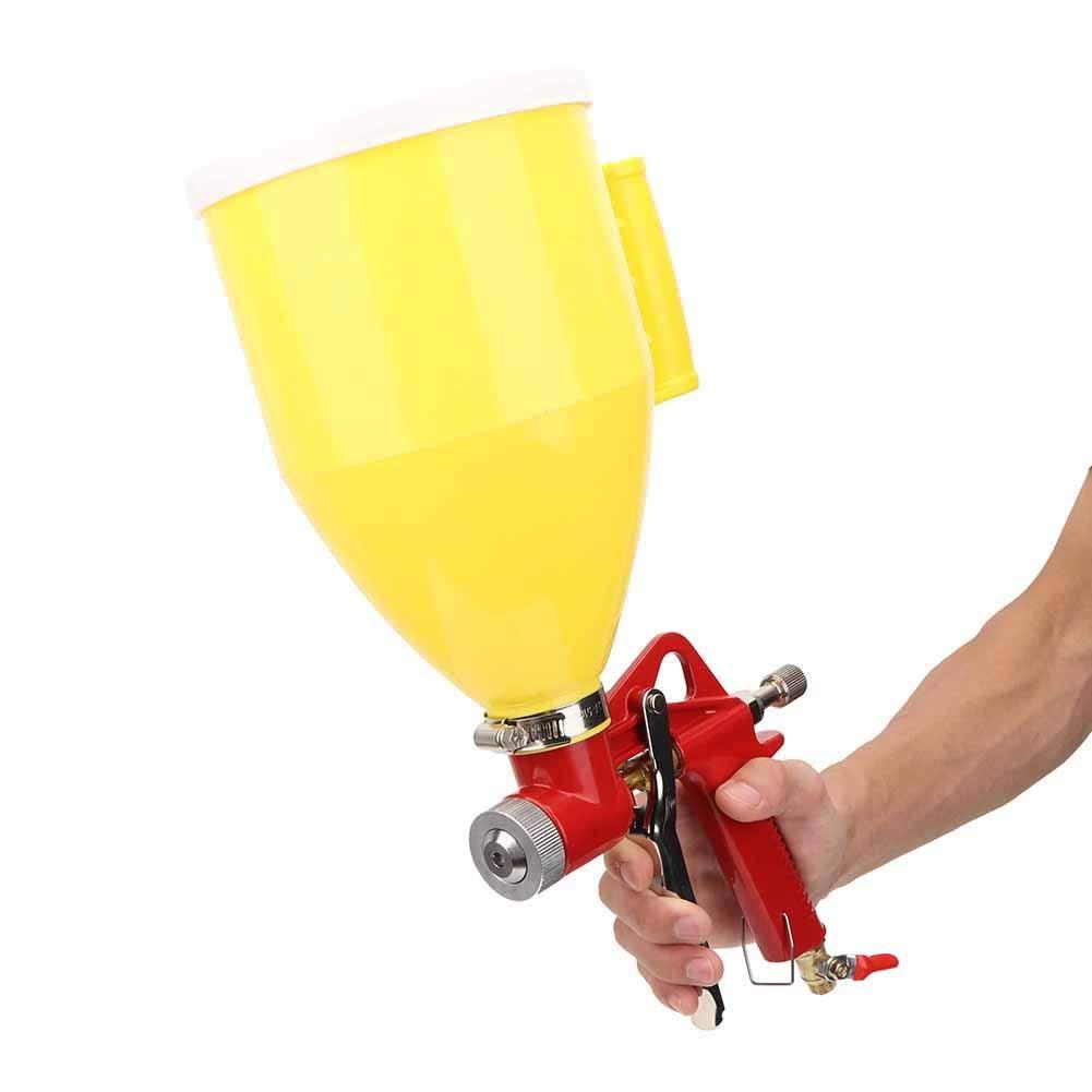 pulverizador de pintura de pared Herramienta de decoraci/ón del hogar 4//6//8 mm para decoraci/ón pistola pulverizadora de aire de tolva de pl/ástico de 3L 1//4in Pistola pulverizadora