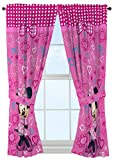 "Disney Minnie Mouse Window Panels Curtains Drapes Pink Bow-tique, 42"" x 63"" each"