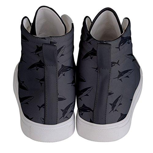 Hi CowCow Balloons Grau Pattern Damen Panda Top Schuhe Sneakers Skate Fun WBnvrpxOn
