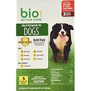 Bio Spot Active Care Flea & Tick Spot On for Extra Large Dogs (61-150 lbs.) 3 Month Refill 65