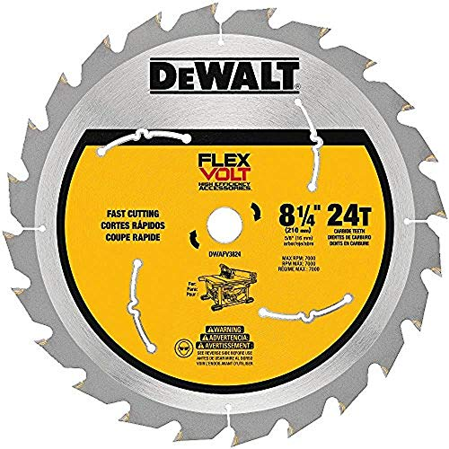 DEWALT DWAFV3824 Flexvolt 24T Table Saw Blade, 8-1/4""