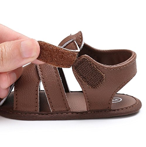 Por 3-18 Meses, Auxma Sandalias para bebés Niños Zapatos Casual Zapatillas Antideslizante Soft Sole marrón