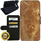 Flip Wallet Case for Galaxy S7 (Surface of Mars) with Adjustable Stand and 3 Card Holders | Shock Protection | Lightweight | Includes Stylus Pen by Innosub