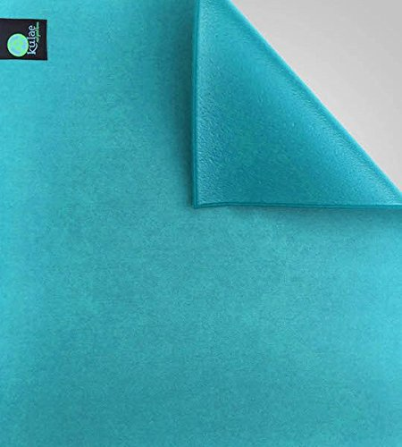 Kulae KU4HYMSE The Elite Hot Hybrid Yoga Mat (Sea/Blue, 4-mm x 72 x 24-Inch)