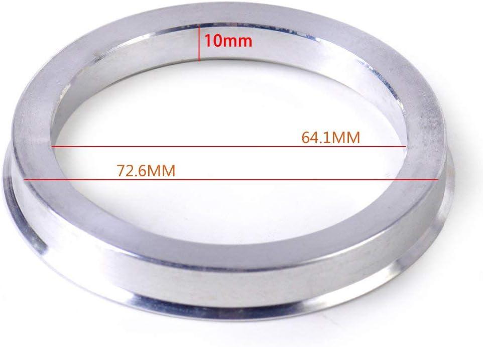 Aluminium Alloy Wheel Hubrings for Most Honda Civic Accord CRV Acura ZHTEAPR 4pc Wheel Hub Centric Rings 72.6 to 64.1 OD=72.6mm ID=64.1mm