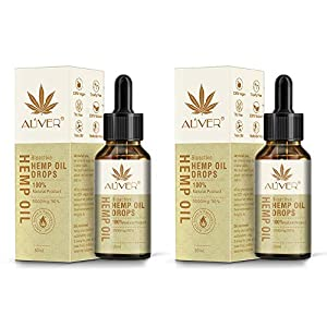 Hemp Oil Drops 30% High Strength Hemp Seed Oil 3000mg Bio-Active Organic Hemp Extract Helps with Sleep, Skin & Hair,Calm Mood,Curelty Free (2pcs 30ml)