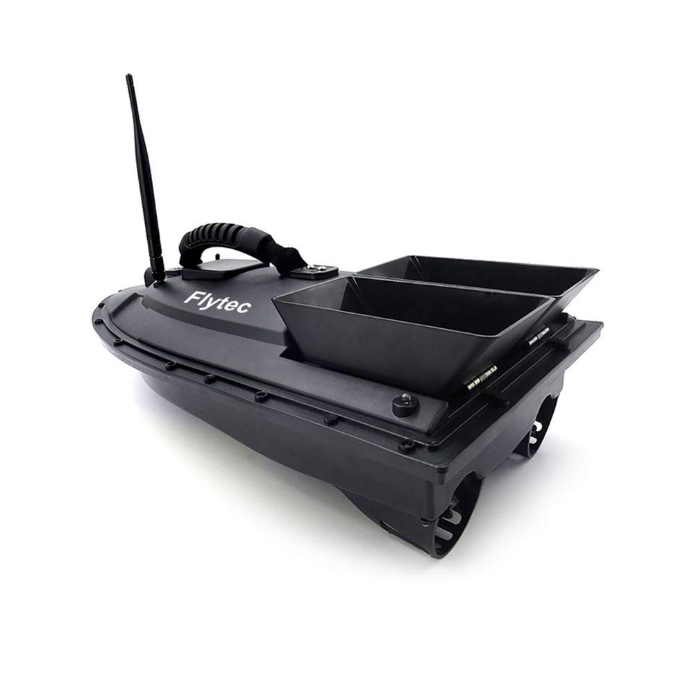 Sentmoon Fish Finder 1.5kg Loading 500m Remote Control Fishing Bait Boat RC Boat Wireless Smart Nester Fishing Bait Remote Control Fishing Gear (Black)