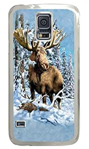 Find 7 Moose Polycarbonate Hard Case Cover for Samsung S5/Samsung Galaxy S5 Transparent