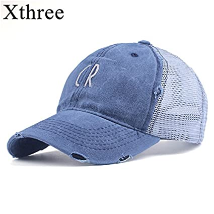 0859cecc38a ALWLj Xthree New Summer Women s Hat Mesh Baseball Cap Fitted Cap Cotton  Snapback Hat for Men