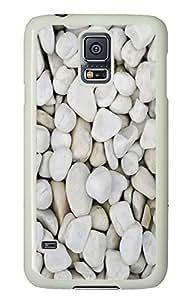 Ipod Touch 5 unique case White rocks PC White Custom Ipod Touch 5 Case Cover