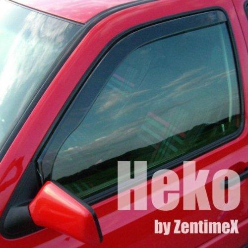 ZentimeX Z900565 Windabweiser Regenabweiser Acrylglas dunkelgrau f/ür VORNE