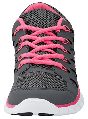 Sneakers Grey Women's 2500N Ultra With oodji Contrast Details YqOTw5xEan